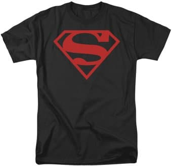 DC Comics - Superman - Red on Black Shield -