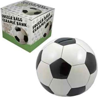 Soccer - Soccer Ball Ceramic Coin Bank