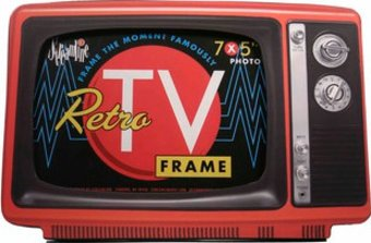 Retro TV Frame - Red