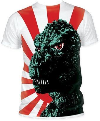 Godzilla: Rising Sun Flag Big Print (Subway Tee)