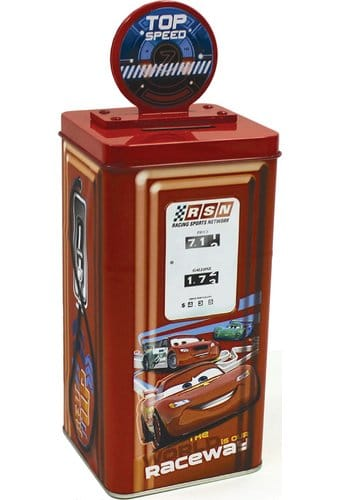 Cars - Gas Pump Tin Bank