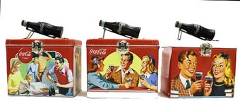 Coke Tin Train Case (Set of 3)