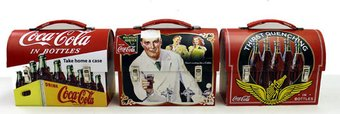 Coke Workmans Large Tin Carry all (Set of 3)