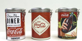 Coca-Cola - Coke Round Locktop Tins (Set of 3)
