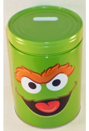 Sesame Street - Oscar Round Tin Money Bank