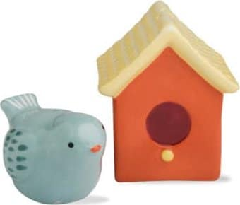 Bird and Birdhouse - Multi Colored Salt & Pepper