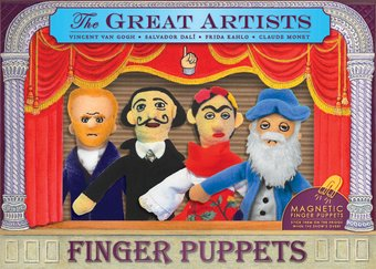 The Great Artists - 4-Piece Finger Puppet Set