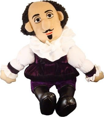 William Shakespeare - Little Thinker Plush Doll