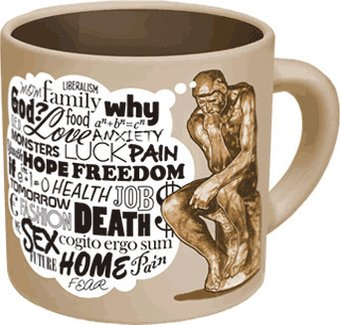 The Thinker Mug - Disappearing Worries 16 oz.