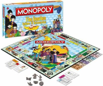 The Beatles - Yellow Submarine: Monopoly Board