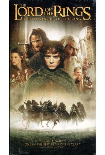 Lord Of The Rings Fellowship Of The Ring Vhs 2001