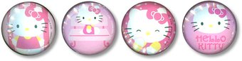 Hello Kitty - 4-Piece Glass Magnet Set