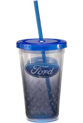 18 oz. Plastic Cold Cup with Lid & Straw