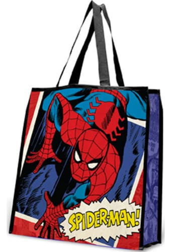 Spiderman - Large Recycled Shopper Tote