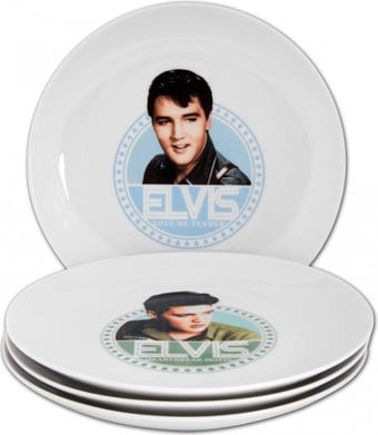 Elvis Presley - 4-Piece Ceramic Collector's Plate
