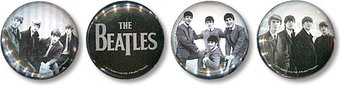The Beatles - Black & White: 4-Piece Glass Magnet