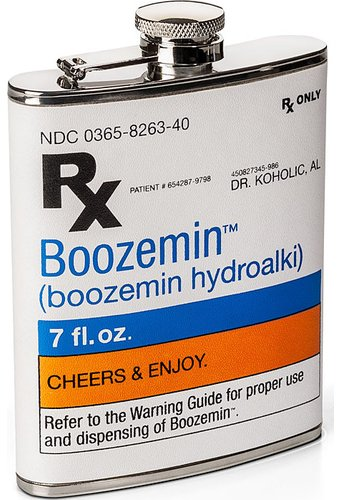 RX Prescription 7 oz. Drinking Flask