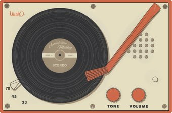 Retro Music Placemats - Record Player Placemat
