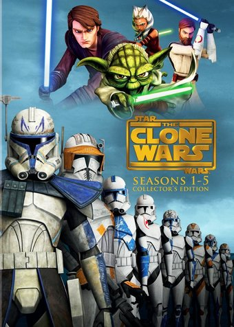 Star Wars: The Clone Wars - Season 1-5 (19-DVD)