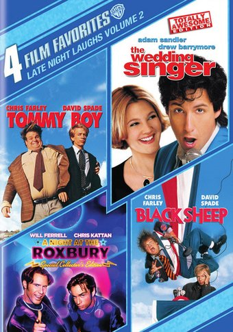 4 Film Favorites Late Night Laughs Volume 2 Tommy Boy The Wedding Singer A Night At The