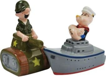 Tank And Ship Salt & Pepper Shakers