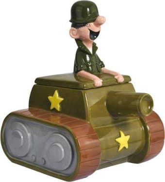 Beetle Bailey in Tank Cookie Jar