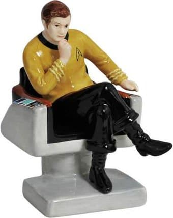 Captain Kirk on Chair Salt & Pepper Shakers