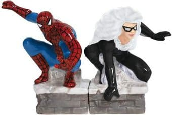 Spiderman & Black Cat Salt & Pepper Shakers