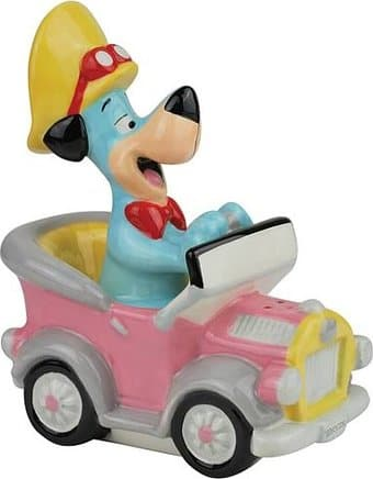 Huckleberry Hound In Car - Salt & Pepper Shakers