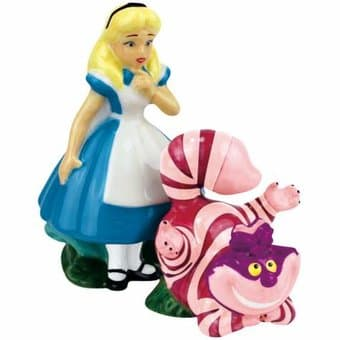 Alice & Cheshire Cat - Salt & Pepper Shakers