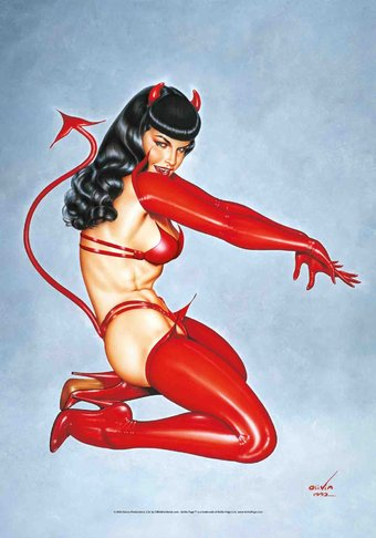 Bettie Page - Red Devil: Flag / Poster / Scarf