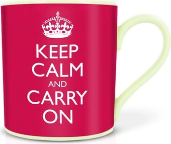 Keep Calm & Carry On - 15 oz. White Porcelain Mug