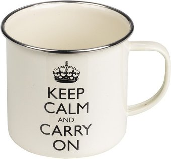 Keep Calm & Carry On - 15 oz. White & Black