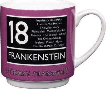 Literary Transport - 12 oz. Stackable Ceramic mug