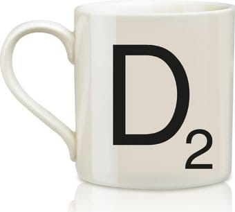 Scrabble - Letter D 12 oz. Ceramic Mug