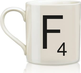 Scrabble - Letter F 12 oz. Ceramic Mug