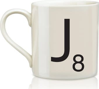 Scrabble - Letter J 12 oz. Ceramic Mug