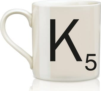 Scrabble - Letter K 12 oz. Ceramic Mug