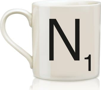 Scrabble - Letter N 12 oz. Ceramic Mug