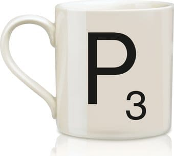 Scrabble - Letter P 12 oz. Ceramic Mug