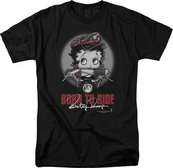 Betty Boop: Born To Ride - T-Shirt