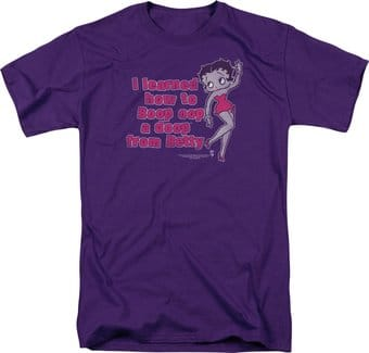 Betty Boop: I learned From Betty - T-Shirt