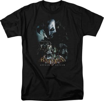 Batman: Arkham Asylum - Five Against One - T-Shirt