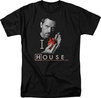 House - I Heart House - Adult Short Sleeve [Black]