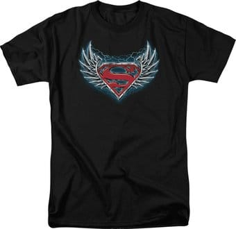 Superman - Steel Wings Logo - T-Shirt
