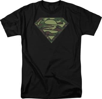 Superman - Camo Logo - T-Shirt