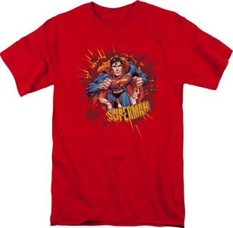 Superman - Sorry About the Wall - T-Shirt