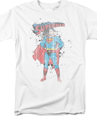 Superman - Vintage Ink Splatter - T-Shirt