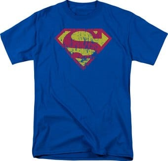 Superman - Classic Logo Distressed - T-Shirt