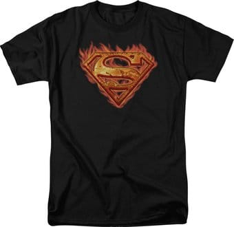 Superman - Hot Metal Shield - T-Shirt
